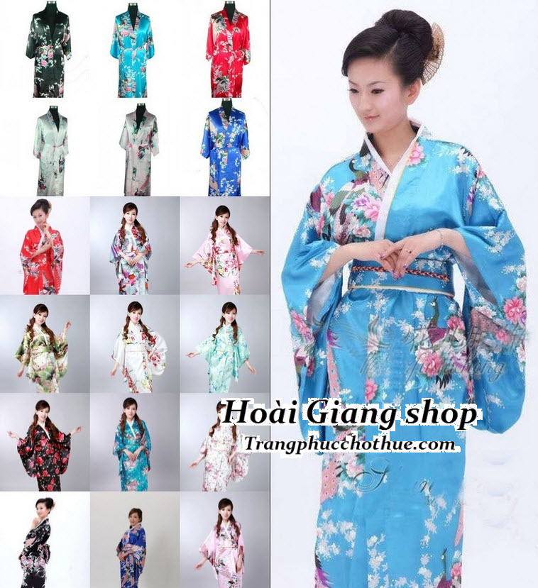 Cho thuê kimono nam nữ nhiều màu nhiều hoa văn khác nhau